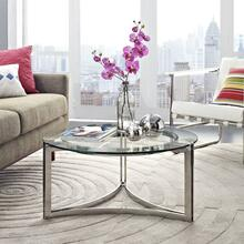 Signet Stainless Steel Coffee Table in Silver