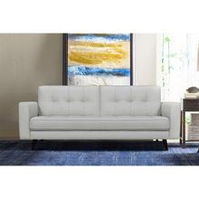 """See Details - Daeson 86"""" Mid-Century Modern Dove Grey Genuine Leather Square Arm Sofa"""