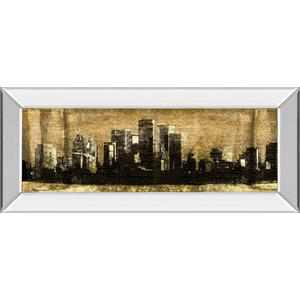 """""""Defined City Il"""" By Sd Graphic Studio Mirror Framed Print Wall Art"""