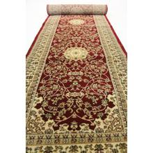 "Persian Design 1 Million Point Heatset Monalisa 5016 Area Rugs by Rug Factory Plus - 2'8"" x 10' / Burgundy"