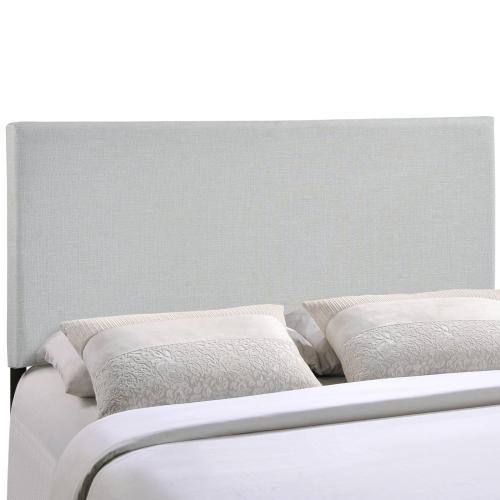 Region Full Upholstered Fabric Headboard in Sky Gray