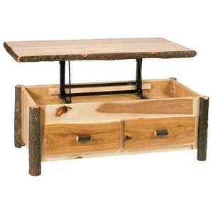 Elevating Coffee Table - Natural Hickory