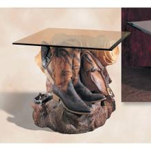View Product - Cowboy Boots End Table