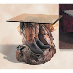 Cowboy Boots End Table