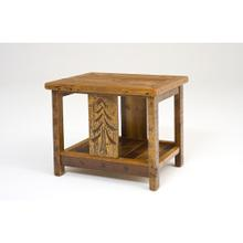 Sequoia Nightstand With Shelf Rectangle