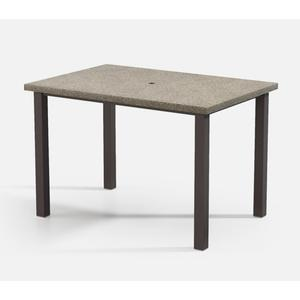 """42"""" x 62"""" Rectangular Bar Table (with Hole) Ht: 40"""" Post Aluminum Base (Model # Includes Both Top & Base)"""