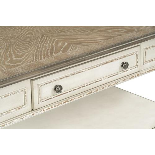Stevenson Manor Coffee Table with Casters, Distressed White