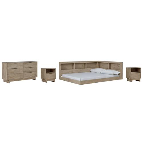 Ashley - Full Bookcase Storage Bed With Dresser and 2 Nightstands