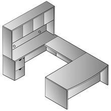 "See Details - Kenwood U Shape W/hutch 72x107"""