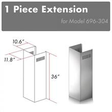 "ZLINE 1-36"" Outdoor Chimney Extension for 9 ft. to 10 ft. Ceilings (1PCEXT-696-304)"