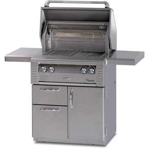 Alfresco - 30 ALL INFRA RED GRILL WITH DELUXE CART