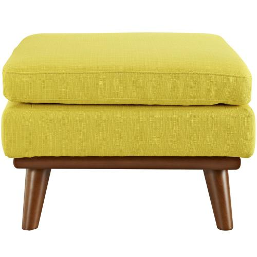 Modway - Engage Upholstered Fabric Ottoman in Sunny