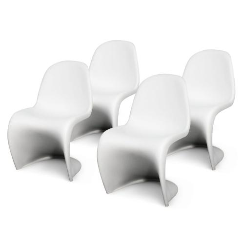 Groovy Molded PP Chair, White