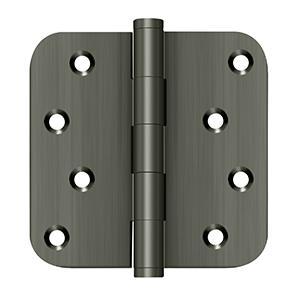 """4"""" x 4"""" x 5/8"""" Radius Hinge / Zig-Zag - Antique Nickel"""