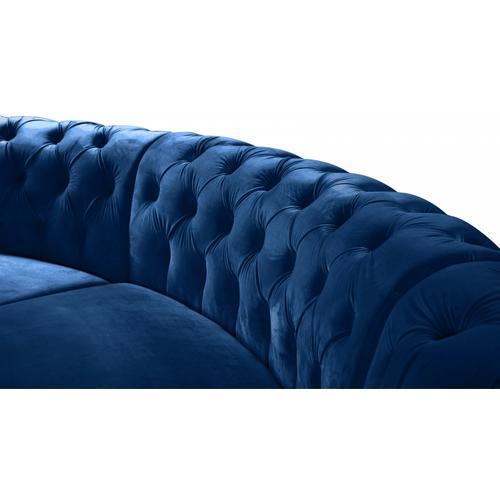 "Meridian Furniture - Anabella Modular Velvet Sectional - 147.5"" W x 111"" D x 31.5"" H"