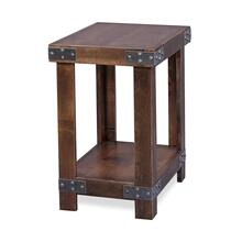 CLEARANCE Industrial Chairside Table