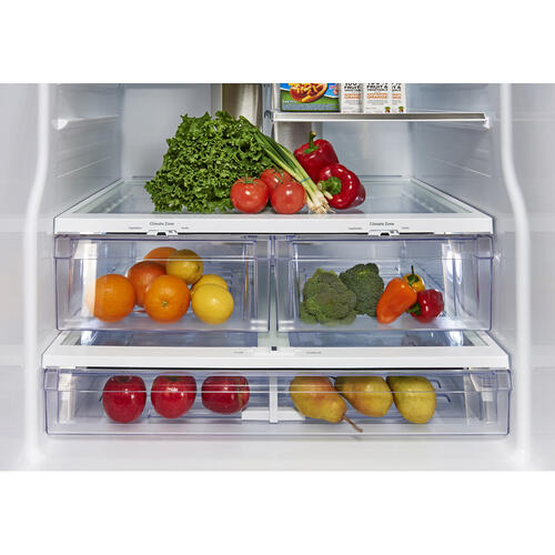 GE Profile 23.5 Cu. Ft. Energy Star French Door Refrigerator with Space Saving Icemaker White - PFE24HGLKWW