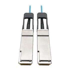 QSFP+ to QSFP+ Active Optical Cable - 40Gb, AOC, M/M, Aqua, 30 m (98.4 ft.)
