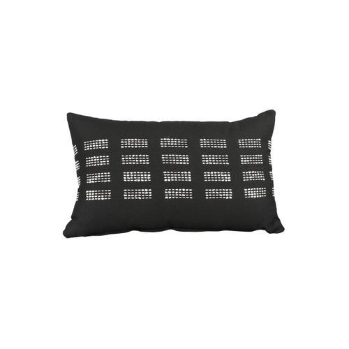 "Boundary Onyx 13"" x 21"" Pillow"