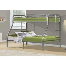 See Details - BUNK BED - TWIN / FULL SIZE / SILVER METAL