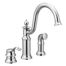 Waterhill Chrome one-handle high arc kitchen faucet