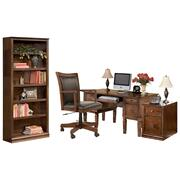 Home Office Desk With Chair and Storage Product Image