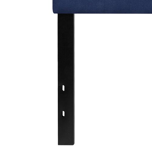 Cambridge Tufted Upholstered Queen Size Headboard in Navy Fabric