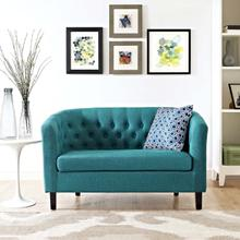See Details - Prospect Upholstered Fabric Loveseat in Teal