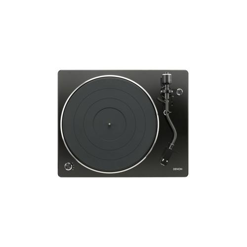 Belt-driven Turntable with S-Shape Tone Arm in Black