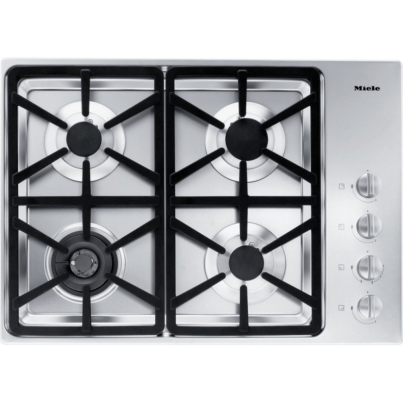 KM 3464 G - Gas cooktop with a dual wok burner for particularly wide ranging burner capacity.