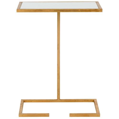 Neil Gold Leaf Accent Table - Gold / White