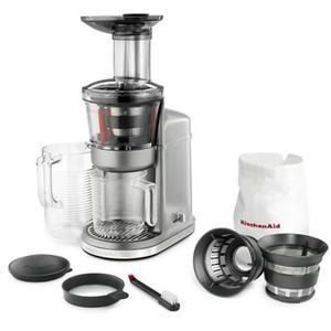 KitchenAid - Maximum Extraction, Slow Juicer - Contour Silver