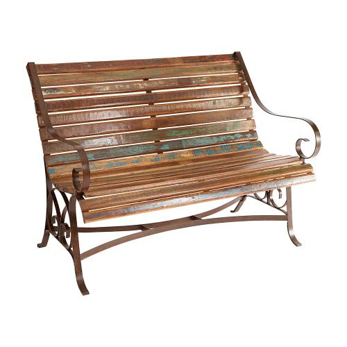Reclaimed Teak/Iron Bench
