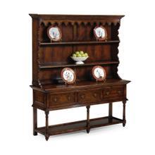 See Details - Country Walnut Open Welsh Dresser