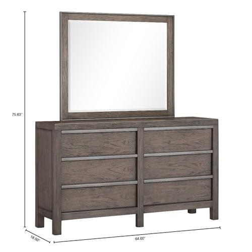 Melbourne Heights 6-Drawer Dresser, Grey