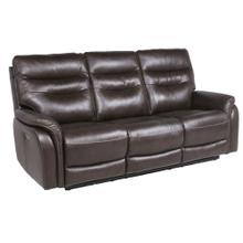 Fortuna Leather Dual Power Reclining Sofa, Coffee