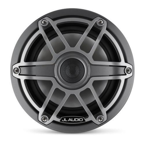JL Audio - 6.5-inch (165 mm) Marine Coaxial Speakers, Gunmetal Trim Ring, Titanium Sport Grille