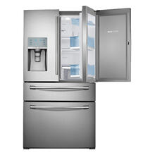 "36"" Wide, 30 cu. ft. Capacity 4-Door French Door Food ShowCase Refrigerator (Stainless Steel) (This may be a Stock Photo, actual unit (s) appearance may contain cosmetic blemishes. Please call store if you would like additional pictures). This unit carries our 6 Month warranty, MANUFACTURER WARRANTY and REBATE NOT VALID with this item. ISI 38156 W"