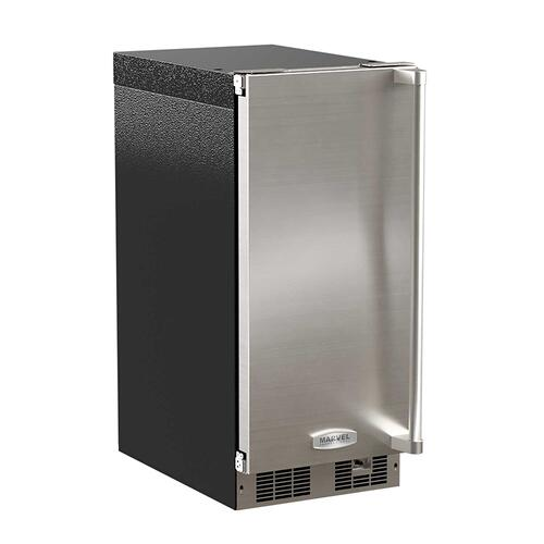 15-In Professional Built-In Clear Ice Machine With Pump with Door Style - Stainless Steel, Door Swing - Left, Pump - Yes