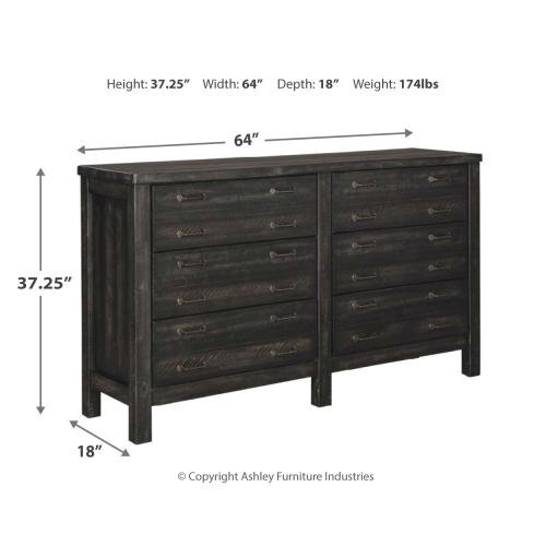 Queen Panel Bed With 4 Storage Drawers With Dresser