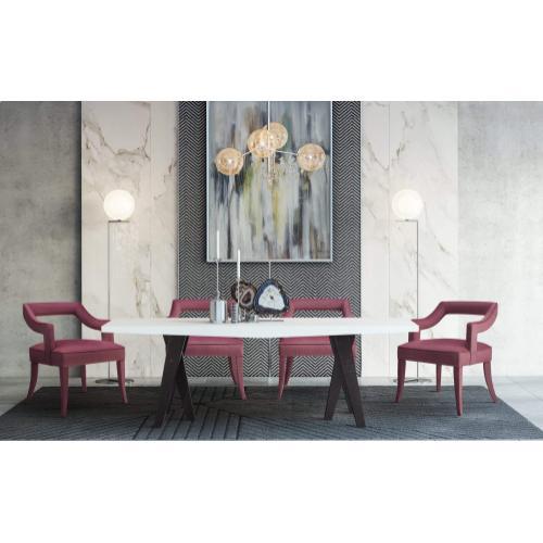 Tov Furniture - Tiffany Pink Slub Velvet Chair