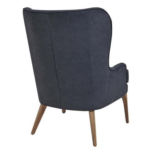 Bjorn KD Fabric Accent Chair, Denim Slate Blue