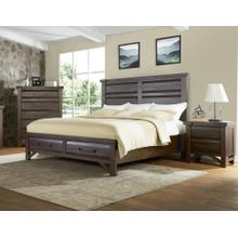 See Details - Timber King Bed - Brown