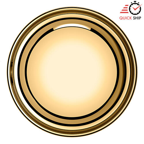 Baldwin - Non-Lacquered Brass 5000 Estate Knob with 5048 Rose