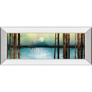 """Classy Art - """"Love You To The Moon And Back"""" By Marla Rae Mirror Framed Print Wall Art"""