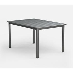 """44"""" x 62"""" Rectangular Balcony Table (with Hole) Ht: 34.5"""" Post Aluminum Base (Model # Includes Both Top & Base)"""