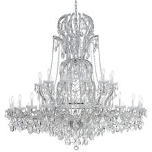Maria Theresa 37 Light Spectra Crystal Chrome Chandelier
