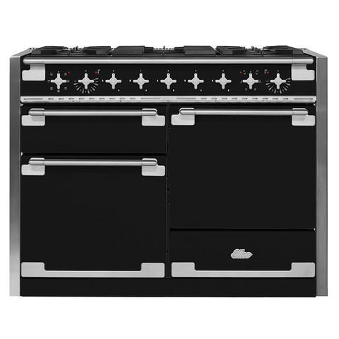 AGAAga Elise 48 Dual Fuel Matte Black With Chrome Trim