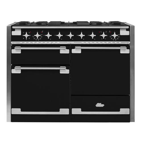 Product Image - AGA Elise 48 Dual Fuel Matte Black with Chrome trim