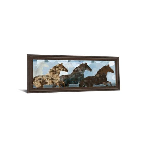 """""""Lively Spirit II"""" Horses By Dan Meneely Framed Print Wall Art"""